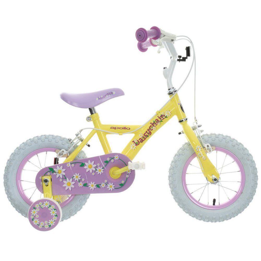 Apollo Daisychain Kids Girls Bike Bicycle Yellow Steel Frame 12  Inch Wheels