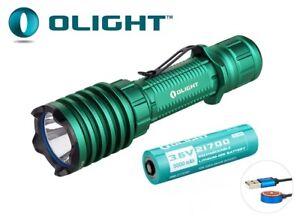 OLIGHT Warrior X Pro 2100 Lumen Flashlight LED Tactical Rechargeable Light Green