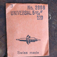 Vintage Universal Geneve Watch 5 1/4 Caliber 220 Balance Staff Swiss Ronda Part