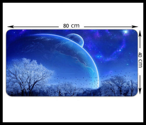 Blue Large Size 800*400MM Speed Game Mouse Pad Mat Laptop Gaming Mousepad