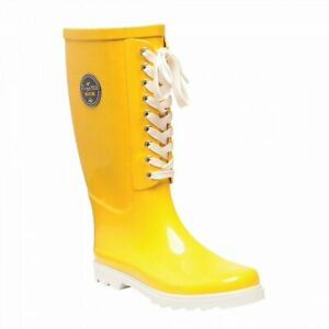 Regatta-Bayeux-Womens-Lace-Up-Waterproof-Wellies-Wellington-Boots-Yellow-RRP-50
