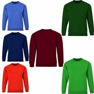 Boys Girls Sweatshirt Sports Jumper School Uniform Blue Green