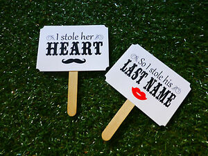 Pair-WEDDING-photograph-props-fans-hand-finished-dbl-sided-moustache-amp-lips