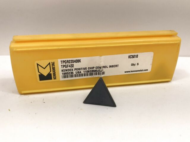 KENNAMETAL CNGA432 CNGA120408 New Carbide Inserts Grade KC730 5pcs