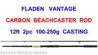 Fladen Vantage 2pc 12ft Carbon Beachcaster Rod For Sea Fishing Multiplier Reel