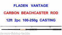 Fladen Vantage 2pc 12ft Carbon Beachcaster Rod For Sea Fishing Multiplier Reel