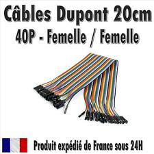 40x Cables Dupont 20cm Femelle/Femelle pour BreadBoard Arduino, Raspberry Pi