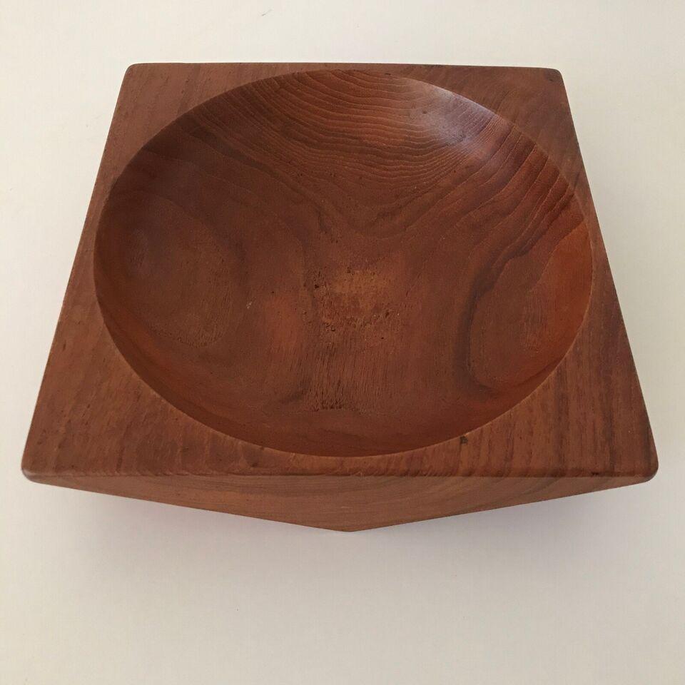Teaktræ skål, A B SOWE - KONST