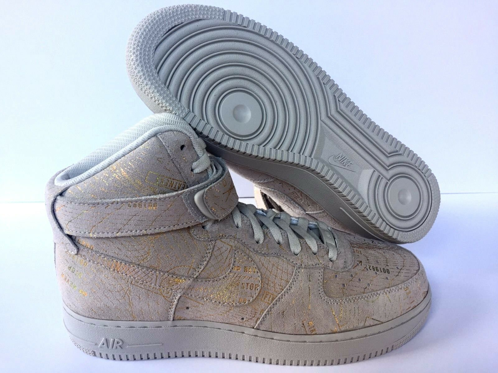NIKEiD WMN AIR [ FORCE 1 NEW BEIGE/GOLD [ AIR 849071-993 ] US SZ WMN 12 MEN 11 977fdd