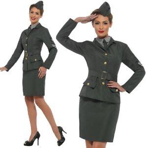 Caricamento dell immagine in corso Donna-1940s-anni-039-40-Militare-Costume -per- 4e50f1043f1