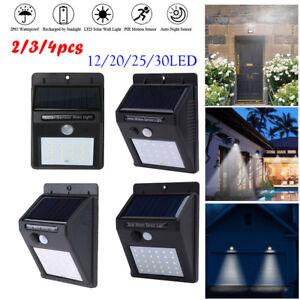 LED-Solaire-Lampe-Capteur-Detecteur-PIR-Mouvement-Jardin-Etanche-Mural-Exterieur