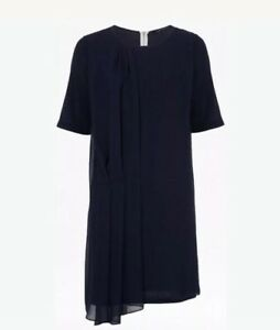 French-Connection-Florrie-Dress-Sizes-8-12-18-Navy-Blue-Style-71FHO-BNWT