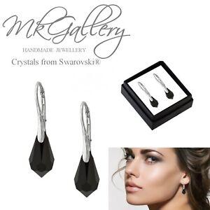 925-Sterling-Silver-Earrings-15mm-Teardrop-Drop-Crystals-from-Swarovski