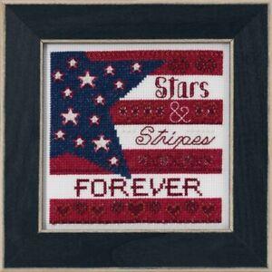 Mill-Hill-Patriotic-Quartet-Stars-and-Stripes-Cross-Stitch-Kit-MH17-1911