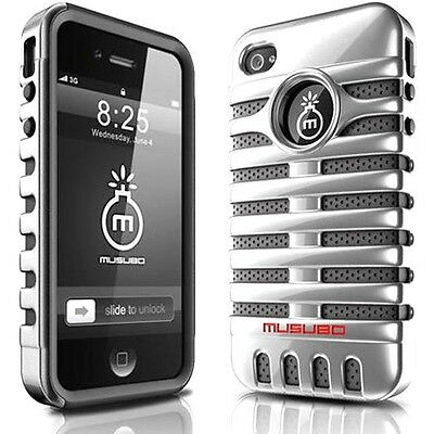 New Microphone Hybrid Impact Case For iPhone 4 4S 5 5S + Free Screen Protector