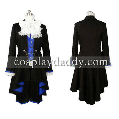 Japanese Black Butler Ciel Phantomhive Cosplay Costume Outfit+ blue shirt