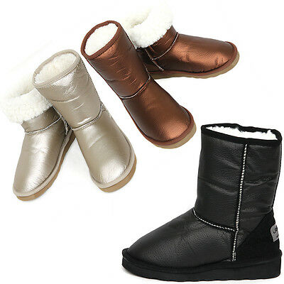 New Shiny Waterproof Shearling Womens Winter Snow Warm Boots Shoes Nova