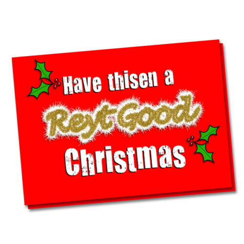 FUN SHEFFIELD à thème Carte de Noël Ont Thisen un Reyt Bon Noël!