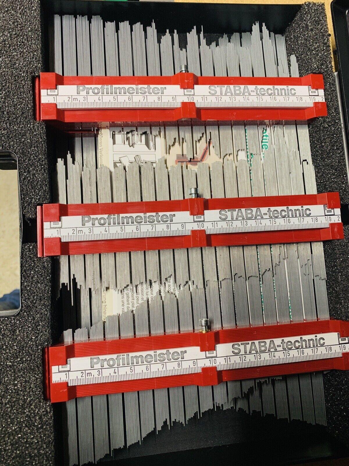 Karosserie Schablone Set Konturenschablone 1Meter 5x20cm Kpl.Profilmeister