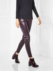 Leggings Schnelle Lieferung Mohito Dark Purple Faux Leather Leggings Size 36 Uk 10 Rrp £30 Dh093 Ee 06