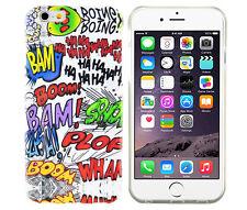 Schutzhülle f iPhone 6 6S Case Cover Tasche Silikon TPU Comic Boom Smiley Fun