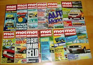 12x-MOT-1974-auto-journal-Oldtimer-Automobile-Sammlung-alt-Zeitschriften