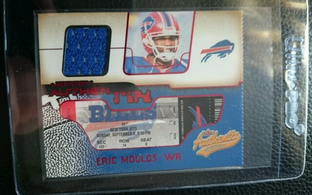 2002 FLEER AUTHENTIX ERIC MOULDS GAME USED JERSEY CARD BUFFALO BILLS MINT 232ce7f85