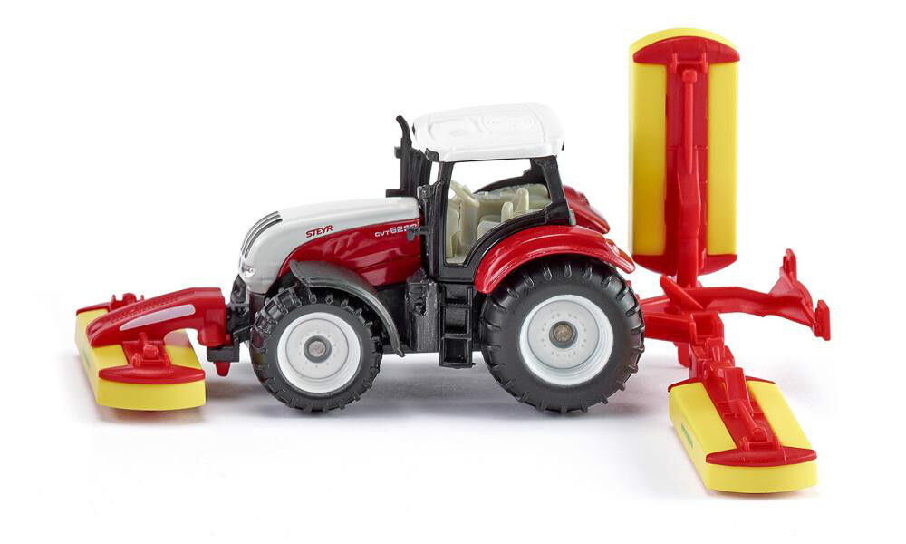Siku Super 1672 Steyr Tractor with Pöttinger Mower Combination Vehicle Model