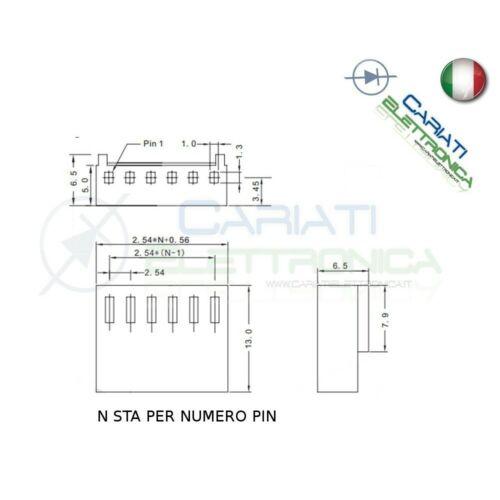5 PEZZI Connettore Connettori MK Femmina 8 Poli