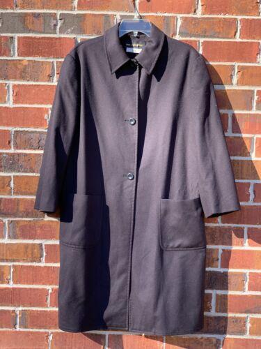 Vintage Cashmere Black Italian Made Coat Tailored