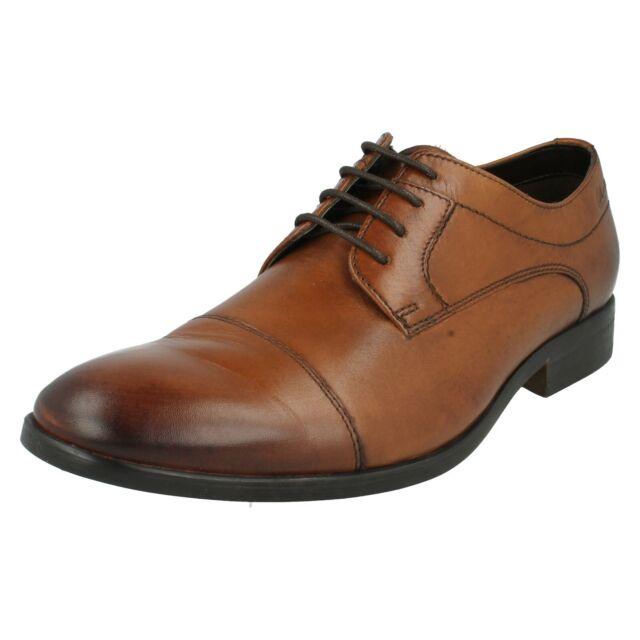 e91b7b5c128 Clarks Banfield Cap - Tan Leather Mens Smart Shoes Various Sizes 7½ ...