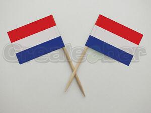 72-Dutch-Flag-Picks-Buffet-Sandwich-Cupcake-Toppers-HOLLAND-Flags
