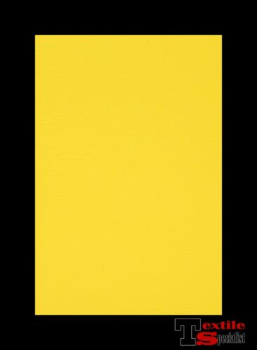 """Faux Leather Car Upholstery Vinyl Fabric Bright Yellow 54/"""" Pleather By The Yard"""