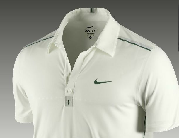 bc8c1c9a Nike Dri-fit Roger Federer Wimbledon Trophy Lawn Tennis Polo Shirt Top Men  L for sale online | eBay
