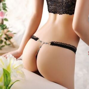 LE-Women-Sexy-Lace-V-string-Briefs-Panties-Thongs-G-string-Lingerie-Underwear