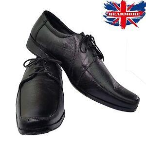 Boys School Shoes Size Black Leather
