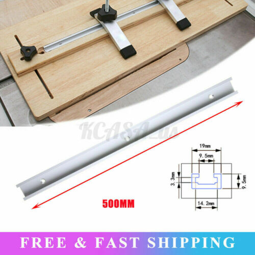 Aluminium 11.8-48inch T-Track T-Slot Miter Jig Tool For Woodworking Router Table