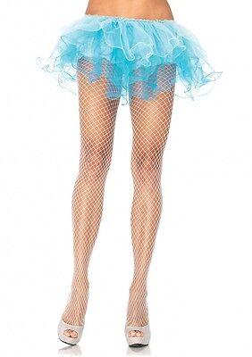 LA-9003 Sexy White Spandex Industrial Net Pantyhose Hosiery Women's Halloween