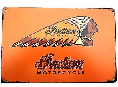 DESIGN 12 INDIAN MOTORCYCLE METAL TIN SIGNS vintage cafe pub bar garage bike