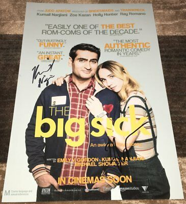 Kumail Nanjiani & Zoe Kazan Signed The Big Sick 12x18 Photo W/exact Proof To Win Warm Praise From Customers Entertainment Memorabilia Posters