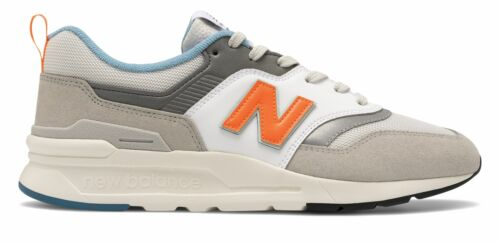 New Balance Men/'s 997 Shoes Grey with Orange