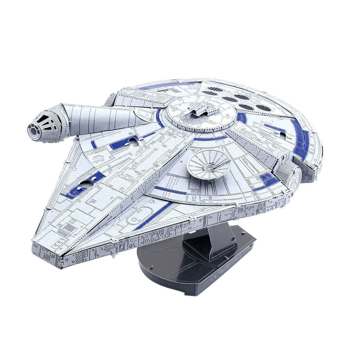 Metall Ekonsth ICONX stjärnornas krig Lando s Millennium Falcon Laser Cut DIY modellllerler Kit
