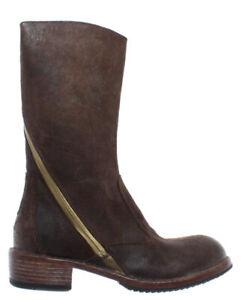 Damen-Schuhe-Stiefeletten-MOMA-78504-1F-Harley-Visone-Leder-Braun-Vintage-Italy