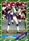 1986 Topps Greg Coleman #302 Football Card