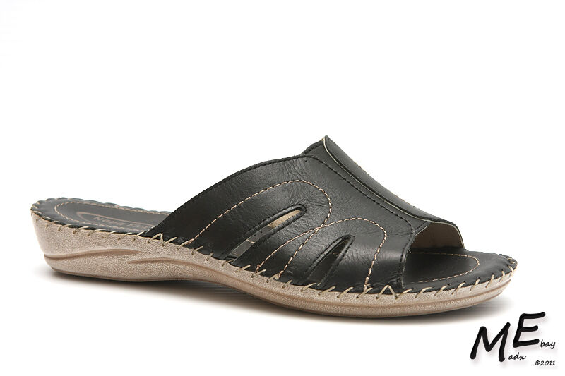 Nouveau Napa Flex Pronto femmes Sandales en cuir noir Taille 9 (fabricants Standard prix de détail  120)