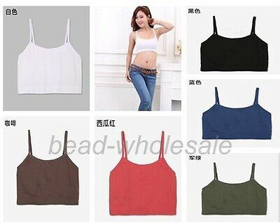 New Spaghetti Strap Cropped Tube Tank Top Bandeau Yoga Athletic Sports Bra
