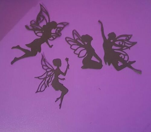 FAIRY DIE CUT TOPPERS CANDLE PACK OF 20 SILHOUETTE FAIRIES MASON JARS