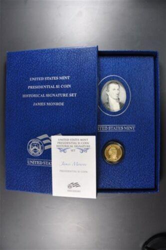 2008 S James Monroe Proof Dollar Historical Signature Set with Box & COA