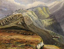 c1860, Inger Maria BURTON, fine original view of Newcastle, JAMAICA, 35 x 45cm