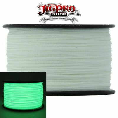 """USA Made Glow-in-the-Dark 3//32/"""" Tactical Cord Paracord 100/' by Jig Pro Shop"""
